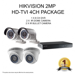 Hikvision 2MP HD-TVI 4Units+4Ch Package