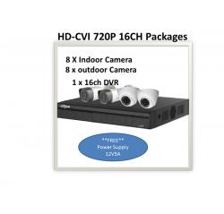 OEM (Dahua)1000 SERIES (720P) HD-CVI 16Ch Package